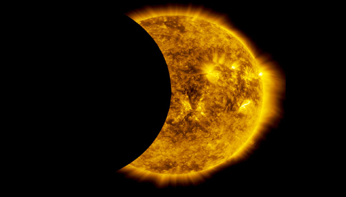 NASA's SDO sees partial eclipse in space NASA/Goddard Space Flight Center