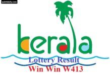 Win Win W413 Kerala Lottery Result