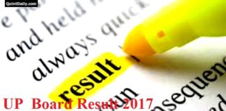 UP Board 10th 12th Result 2017