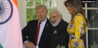 President Donald Trump Meet up Narendra Modi