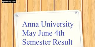 Anna University May June 4th Semester Result 2017