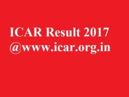 ICAR Result 2017