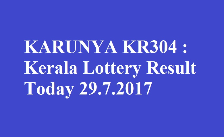 Lottery results for today kerala
