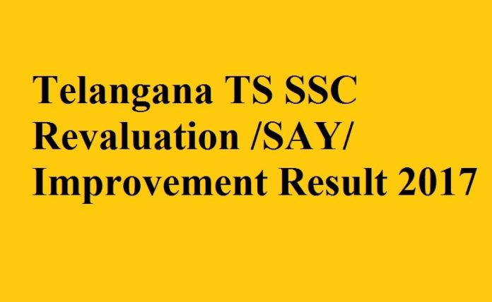 Telangana TS SSC Revaluation/SAY/Improvement Result 2017