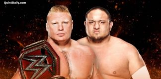 Brock Lesnar vs Samoa Joe - WWE Great Balls of Fire 2017 Results