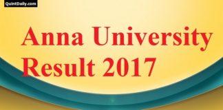 Anna University Result 2017