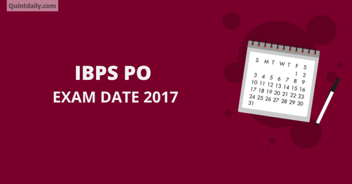 IBPS PO 2017 - Application/Eligibility/Admit Card/Results Date
