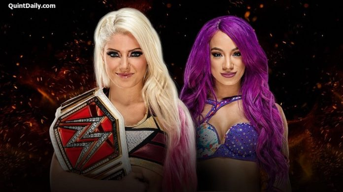 Alexa Bliss vs Sasha Banks : WWE Great Balls of Fire 2017 Results