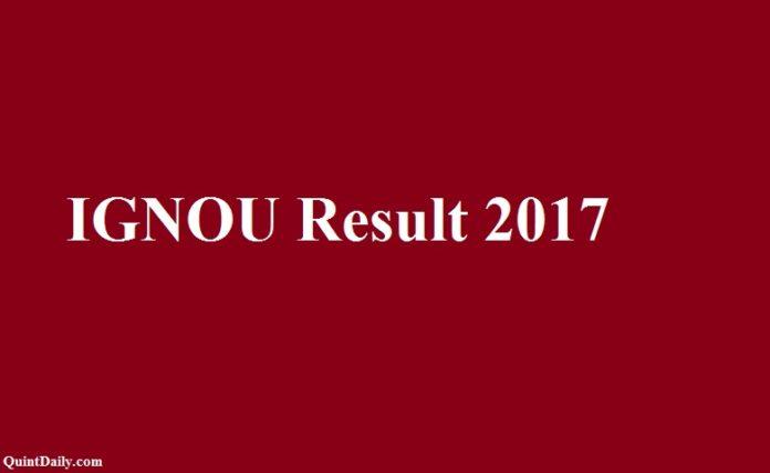 IGNOU Result 2017