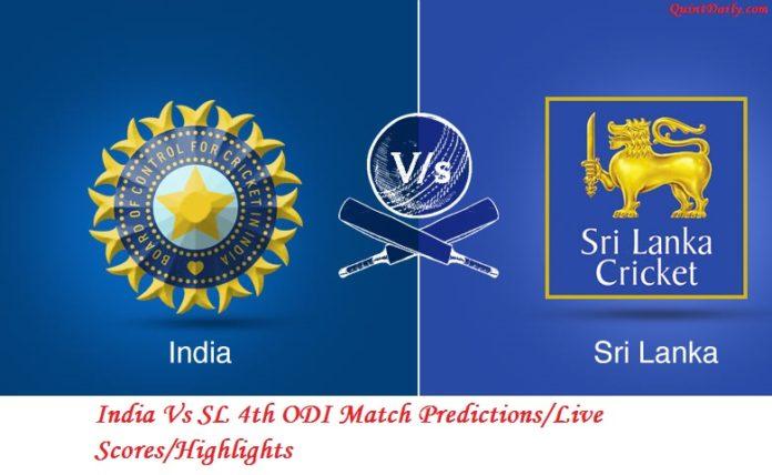 India Vs SL 4th ODI Match Prediction