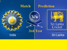 India V SriLanka 3rd Test Match Prediction