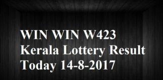 WIN WIN W423 Kerala Lottery Result