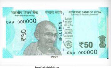 New 50 rupee note