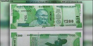 200 Rupee Note