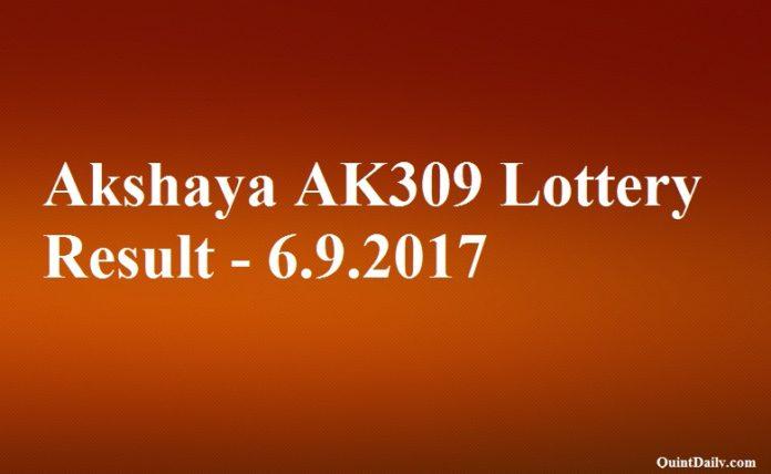 Akshaya AK309 Lottery Result
