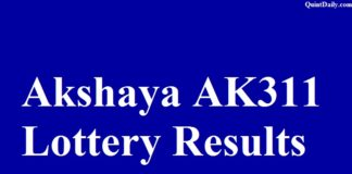 Akshaya AK311 Lottery Results