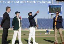 Ind v Aus 3rdODI Match Prediction