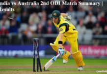 India vs Australia 2nd ODI Match Summary