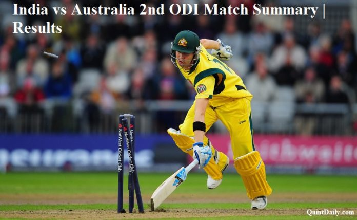 India vs Australia 2nd ODI Match Summary