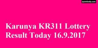 Karunya KR311 Lottery Result