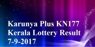 Karunya Plus KN177 Lottery Result