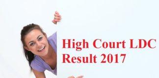 High Court LDC Result 2017