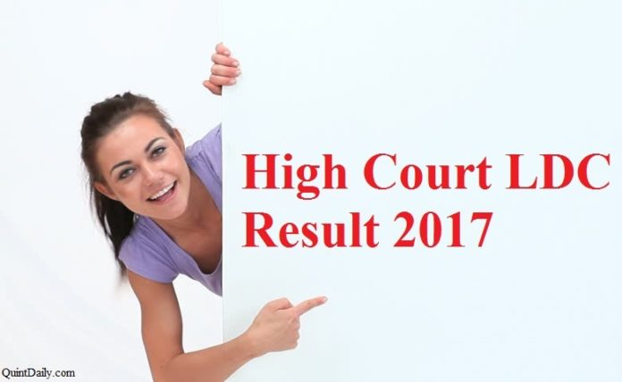 High Court LDC Result 2017