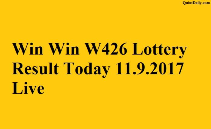 Win Win W426 Lottery Result Today 11.9.2017 Live