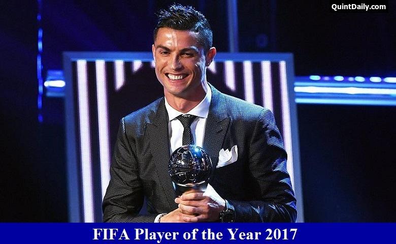 cristiano ronaldo  fifa player of the year 2017