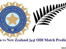 Ind vs NZ 3rd ODI Match Prediction