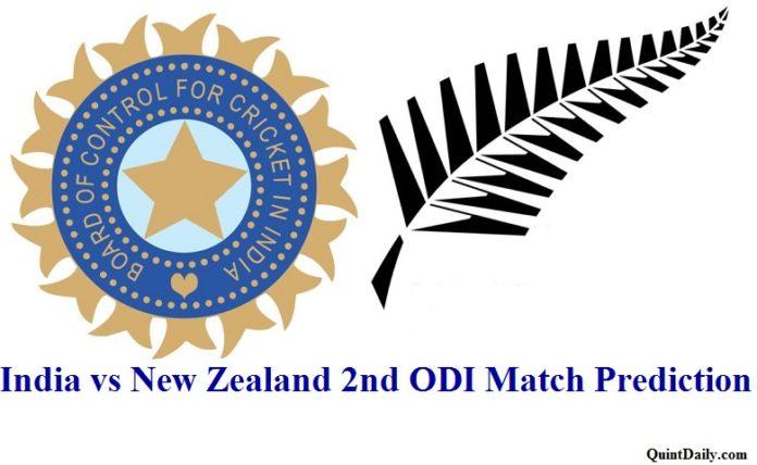 India vs New Zealand 2nd ODI Match Prediction