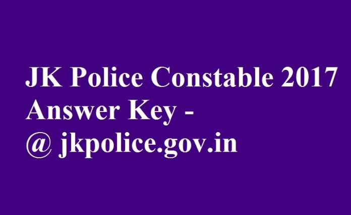 JK Police Constable 2017 Answer key