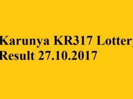 Karunya KR317 Lottery Result