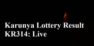 Kerala Lottery Result KR314