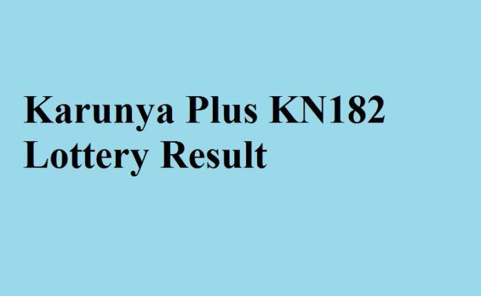 Karunya Plus KN182 Lottery Result