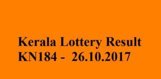 Kerala Lottery Result KN184