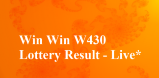 Win Win W430 16.10.2017 Kerala Lottery Result Today