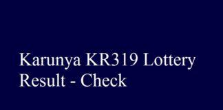 Karunya KR319 Lottery Result