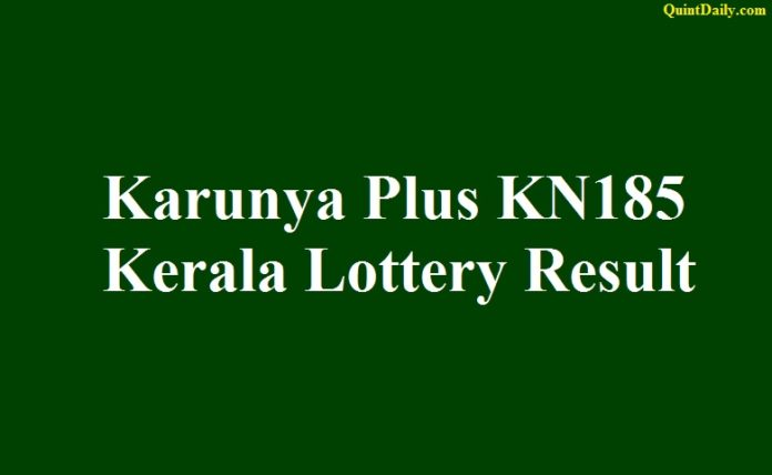 Karunya Plus KN185 Kerala Lottery Result