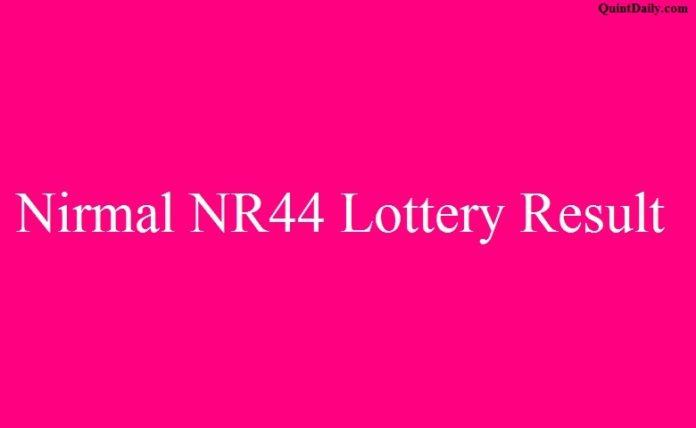 Nirmal NR44 Lottery Result