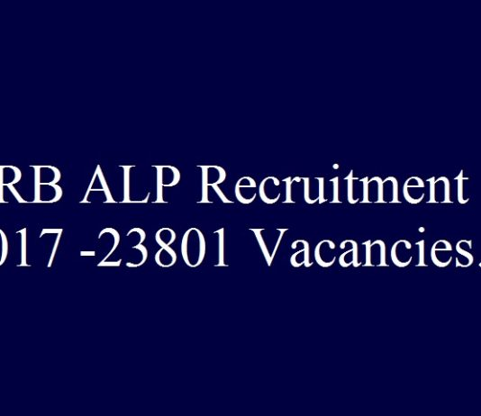 RRB ALP Recruitment 2017