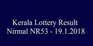 Kerala Lottery Result Today Nirmal NR53