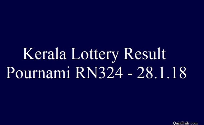Kerala Lottery Result Pournami RN324