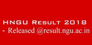 HNGU Result 2018