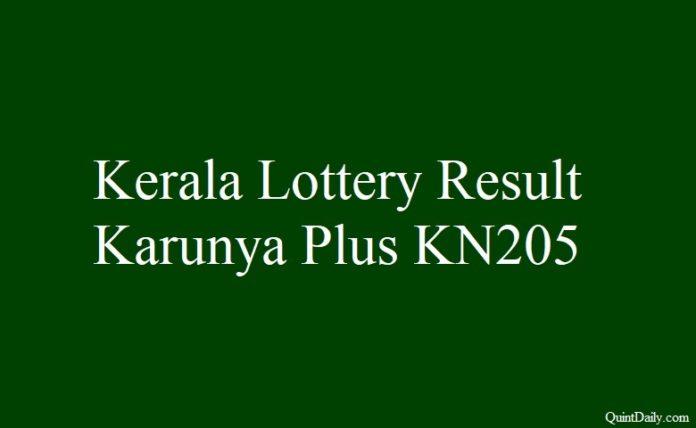 Kerala Lottery Result Today Karunya Plus KN205 - 22.3
