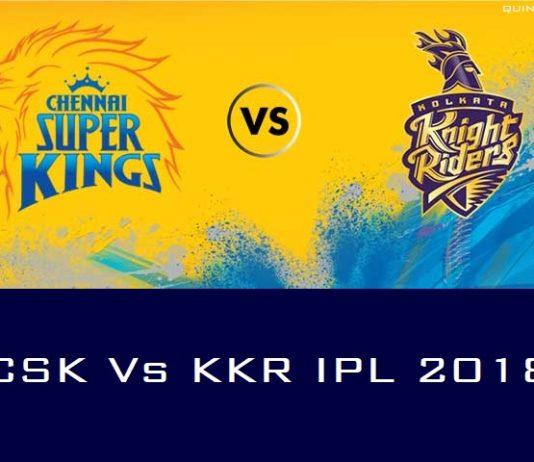 CSK vs KKR IPL 2018 Live Score