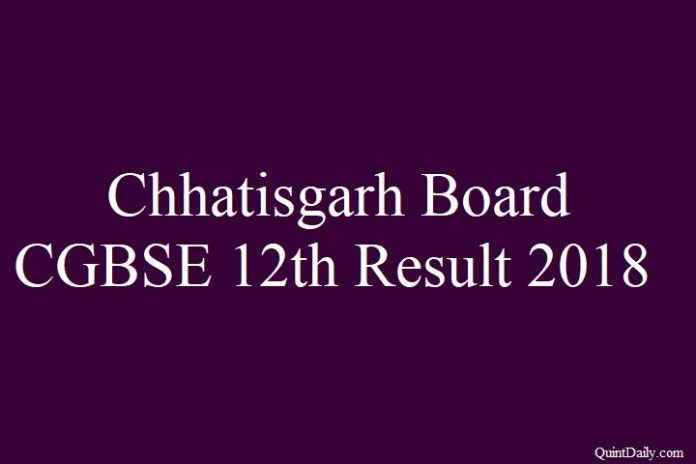 CGBSE 12th Result 2018