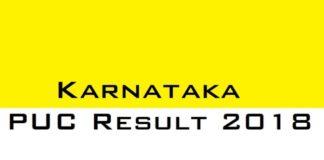 Karnataka PUC Result 2018