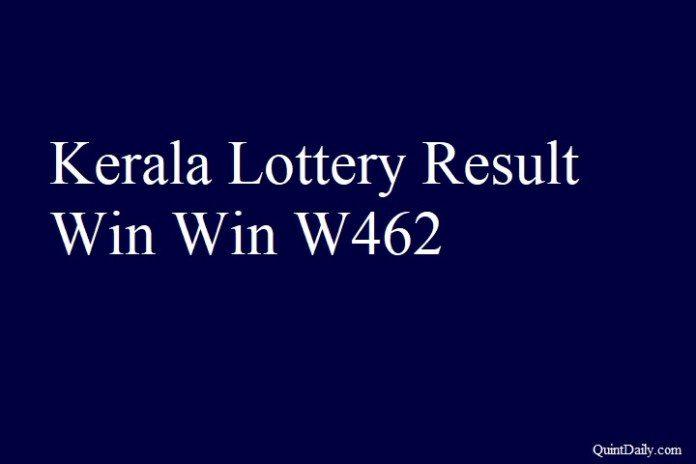 Kerala Lottery Result 28.5.2018 Win Win W462