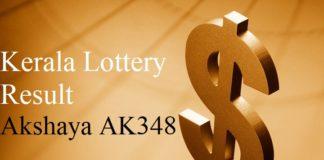 Kerala Lottery Result 6.6.2018 Akshaya AK348